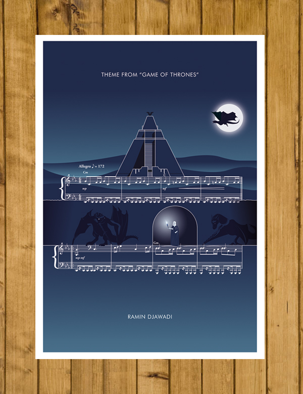 Game of Thrones - Theme by Ramin Djawadi - Classics Poster A3 or 11x17""
