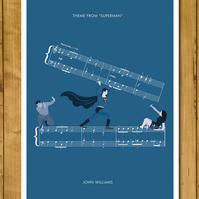 "Superman - Theme by John Williams - Movie Classics Poster (A3 or 11x17"")"