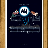 "Batman - Theme by Danny Elfman - Movie Classics Poster (A3 or 11x17"")"