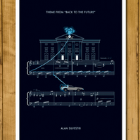 Back to the Future - Main Theme by Alan Silvestri - Music Poster - A3 or 11x17""