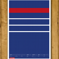 France - World Cup Champions 1998 - Francais Retro Kit Poster - A3 (420 x 297mm)