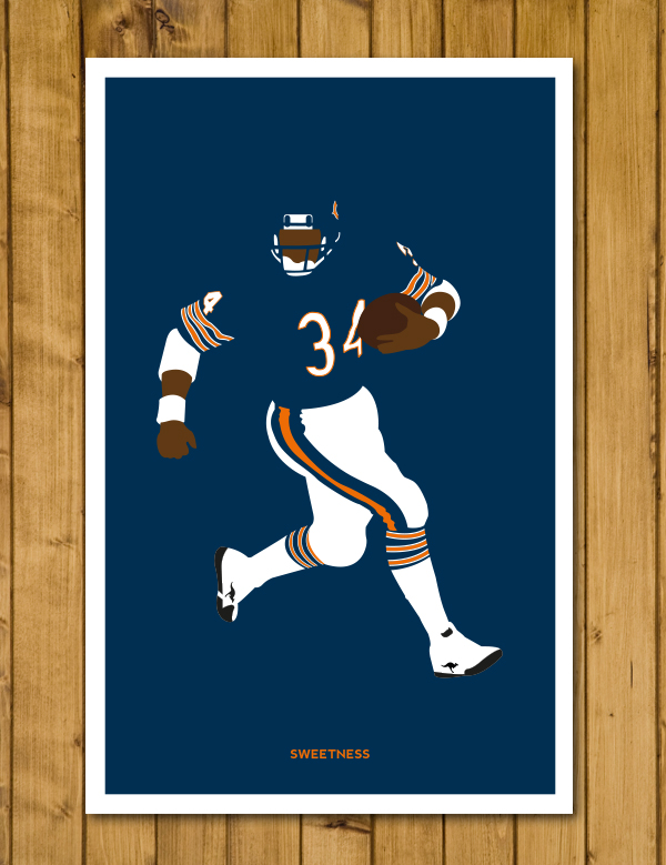 "Chicago Bears - Walter Payton 'Sweetness' Poster (11 x 17"")"