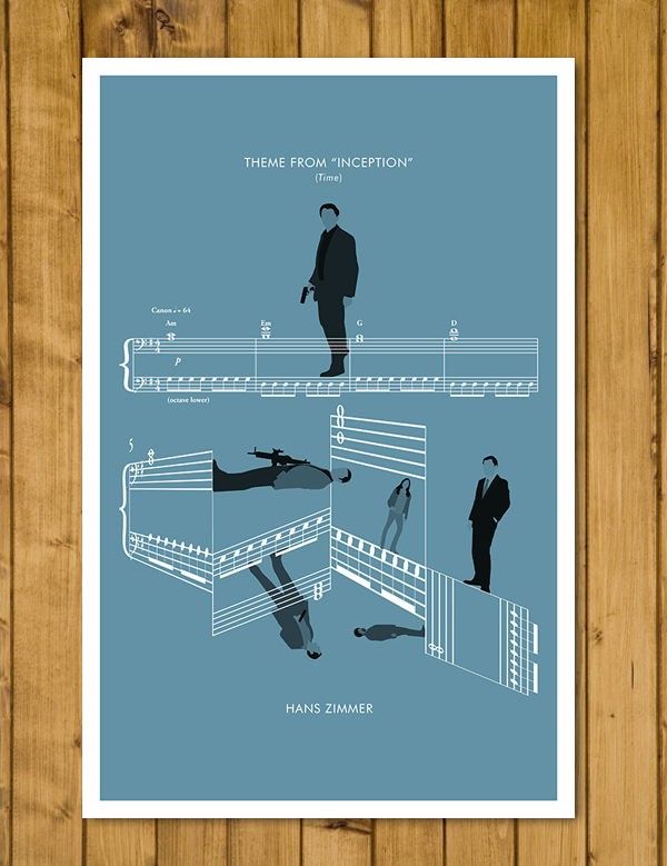 "Inception - 'Time' by Hans Zimmer - Movie Classics Poster (A3 or 11x17"")"