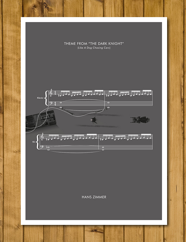 "The Dark Knight - Theme by Hans Zimmer - Movie Classics Poster (A3 or 11x17"")"