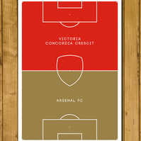 Football Poster - Arsenal Red Gold - Victoria Concordia Crescit - A3