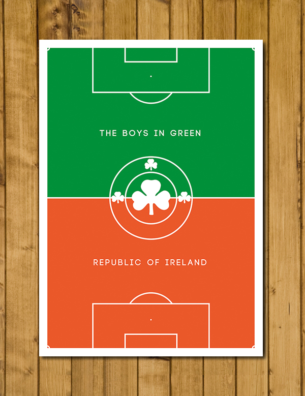 Republic of Ireland - Pitch Perfect - The Boys In Green - Eire Poster - A3