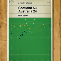 Scotland 53 Australia 24 - Huw Jones Try - Rugby Poster - A3