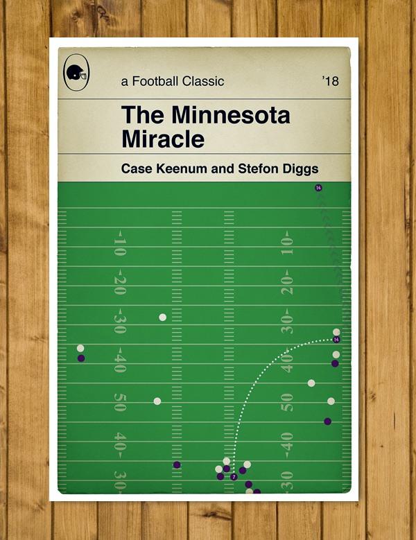 "Minnesota Vikings - The Minnesota Miracle - Stefon Diggs - Poster (11x17"" or A3)"