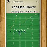 "New England Patriots - The Flea Flicker v Steelers 2017 - Poster  (11 x 17"")"