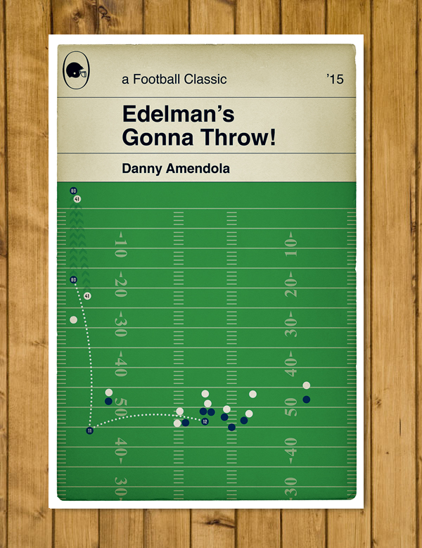 "New England Patriots - Edelman touchdown pass to Amendola Poster (11x17"" or A3)"