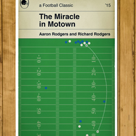 "Green Bay Packers - The Miracle in Motown Poster (11x17"" or A3)"