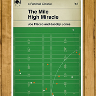 "Baltimore Ravens - The Mile High Miracle - Poster (11 x 17"" or A3)"