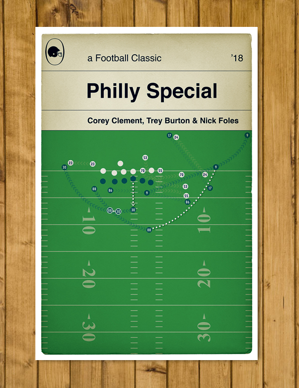 "Philadelphia Eagles - Philly Special - Super Bowl LII - Poster (11x17""or A3)"