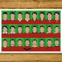 Football Poster - Ryan Giggs - 24 Seasons - Manchester United - A3