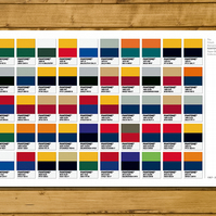 Super Bowl 50th Anniversary - First 50 Winners - Fantone Swatch Poster 11 x 17""