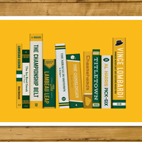 "Green Bay Packers - Storied Franchise Poster - Book Cover Spines (11x17"")"