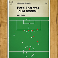 Alan Partridge Commentary - Liquid Football - Goal Poster - A3
