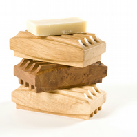 Wooden Soap Holder Block