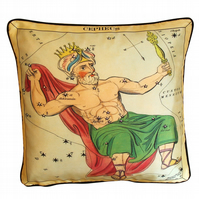 Cepheus, Luxury Silk Cushion 42 x 42 cm with Swarovski crystals (AB) & pad