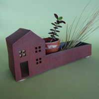 Ceramic house, air plant dish, change tray, tea light, bonsai planter