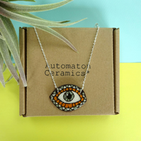 All seeing eye necklace on chain