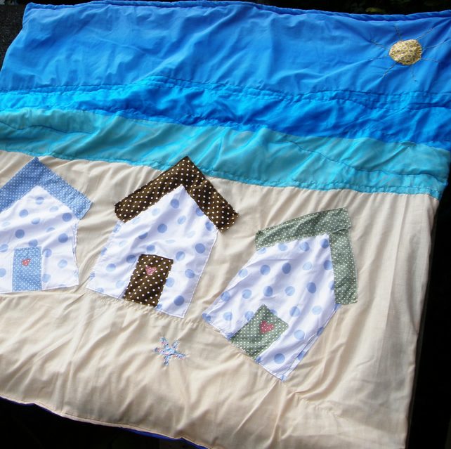 Summer Beach Hut  Picnic Blanket