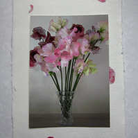Sweet Pea Flower Vase Birthday Card