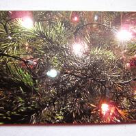 SALE - Five Christmas Tree Lights Christmas Cards