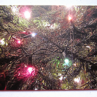 Christmas Tree Lights Christmas Card