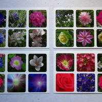 Set of 24 Pretty Flower Stickers