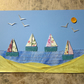 Sand Dunes and Sail Boats Nautical Picture