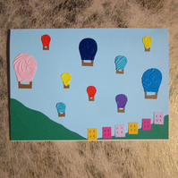 Bristol Balloons Greetings Card – Totterdown Houses