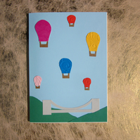 Bristol Balloons Greetings Card – Clifton Suspension Bridge