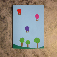 Bristol Balloons Greeting Card – Ashton Court Estate