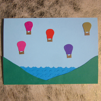 Bristol Balloons Greetings Card – River Severn