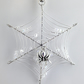 Christmas spider hanging decoration, Crystal cobweb, Suncatcher