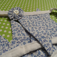 BUNTING Blue and White Ditsy Flower Print Bunting  17 Pennant  WALL HANGING