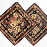 Two Tropical Panther Square Placemats