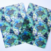 Two Tropical Forest Plastic Placemats