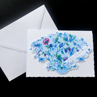 Chintz Anglais Fan Card- Mother's Day Handcrafted