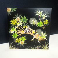 The Lazy Leopard Greeting Card