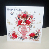 'Decorque Display' Happy Birthday Card
