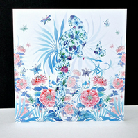 Exotic Chintz Parrot Card