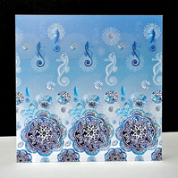 Dancing Seahorses Card