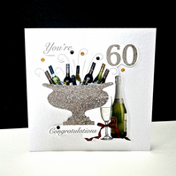 Celebration Bottles 60th Birthday Card