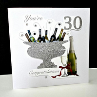 Celebration Bottles 30th Birthday Card