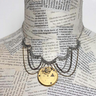 Vintage Steampunk Statement Necklace
