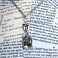 Silver Steampunk Charm Face Charm Necklace