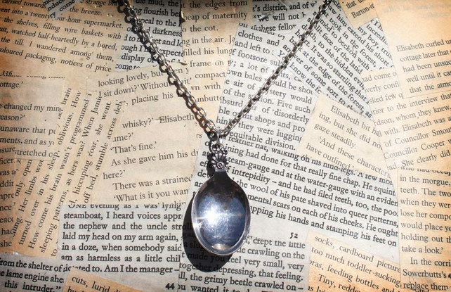 Spoon Bowl Pendant Silver Necklace