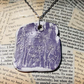 Embossed Clay Purple Dandelion Flower Silver Necklace